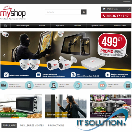 projets ecommerce itsolution tunisie myshop
